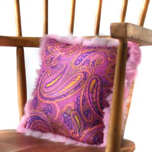 Pink and Purple Paisley Print Lining