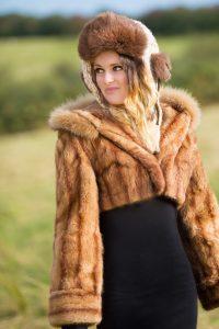 Remodeled Musquatch Fur Coat