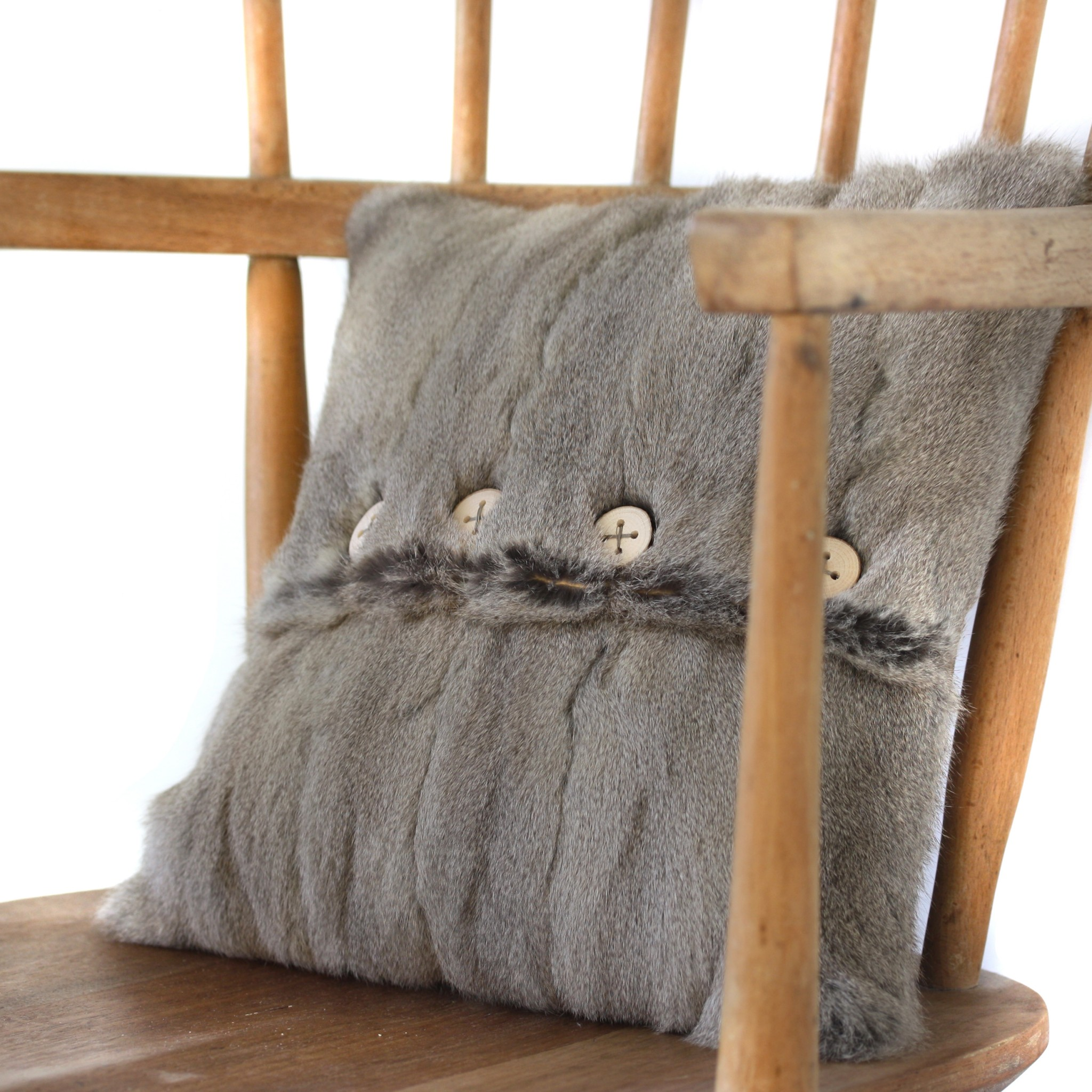 Grey Russian Squirrel Cushion