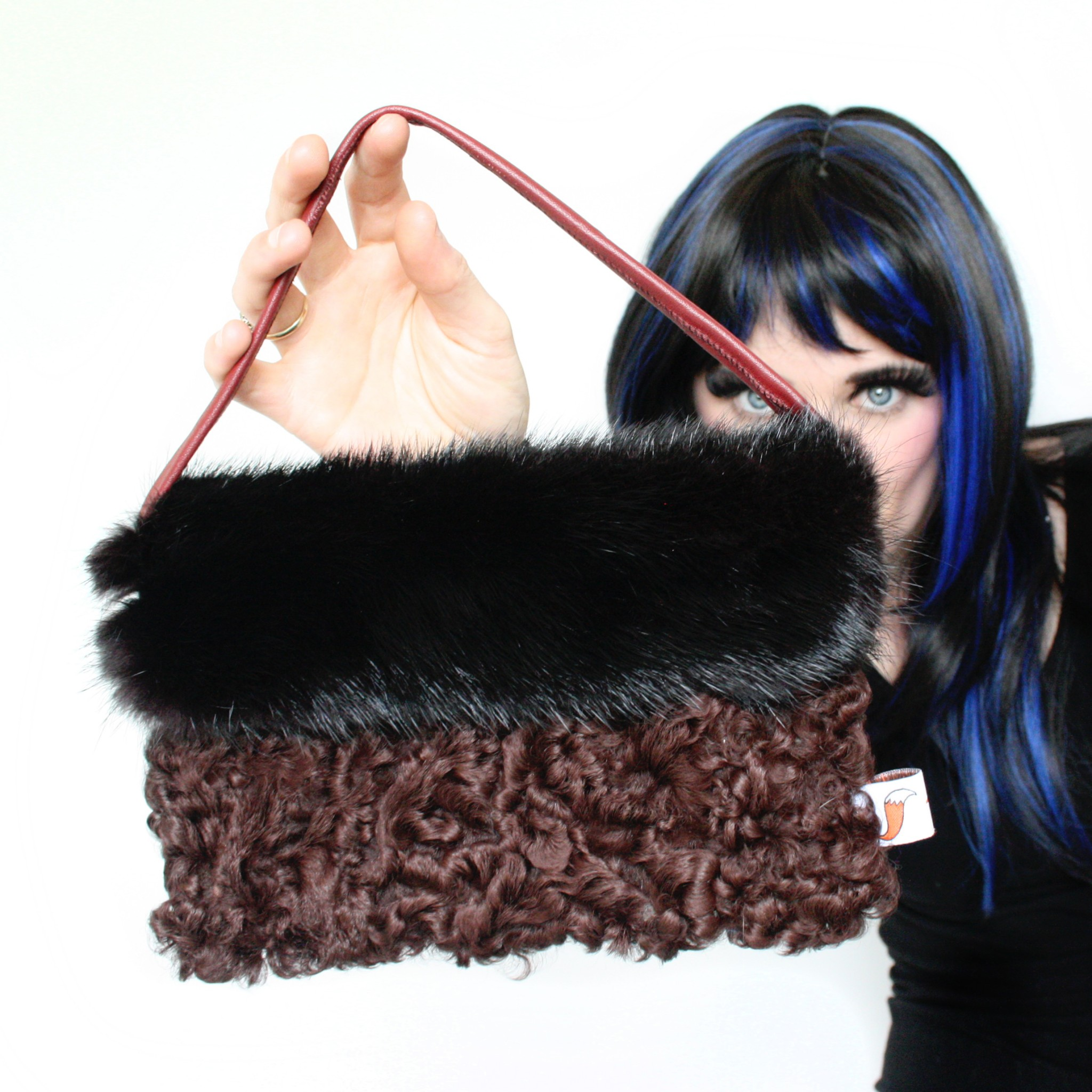 Mink & Persian Lamb Clutch Bag