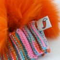 Bright Orange Clash Fox Beret Close Up