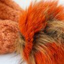 Orange Super Trim Pom Pom Hat Pom Close Up