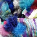 Blue Multicoloured Sea Urchin Scarf Set Close Up