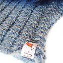 Blue Knit Silver Fox Snood