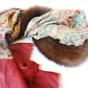 Sable Fur and Silk Scarf